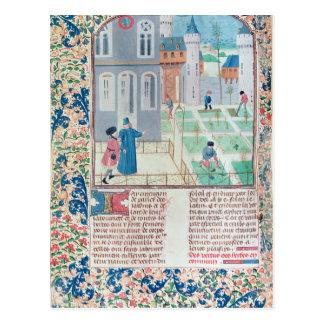 The Garden, illustration from 'Le Livre des' Postcard
