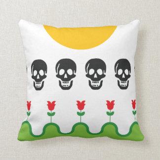 The garden of death throw pillow