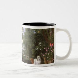 The Garden of Eden, 1659 Two-Tone Coffee Mug