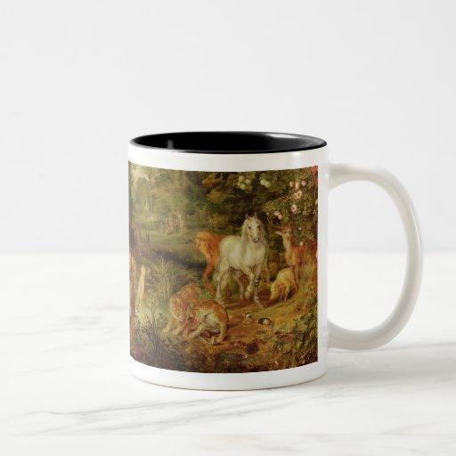 The Garden of Eden; in the background The Temptati Coffee Mugs