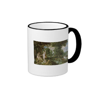 The Garden of Eden with the Fall of Man, c.1615 Ringer Coffee Mug