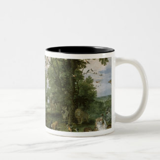 The Garden of Eden with the Fall of Man, c.1615 Two-Tone Coffee Mug