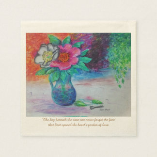 The Garden of Love Paper Napkins