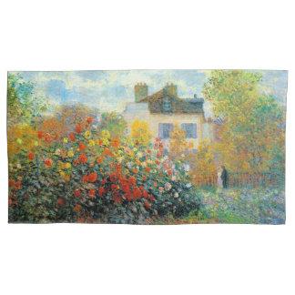 The Garden of Monet at Argenteuil Fine Art Pillowcase