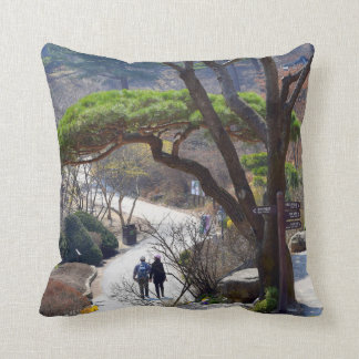 The Garden of Morning Calm Throw Pillow