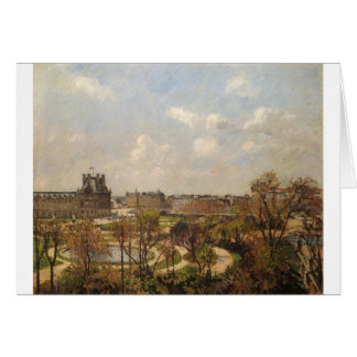 The Garden of the Tuileries, Morning, Spring Card