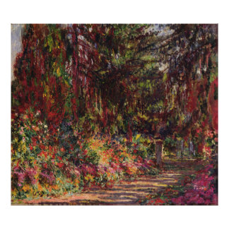 The Garden Path at Giverny Poster