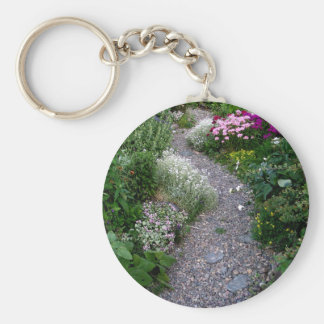 The Garden Path Basic Round Button Keychain