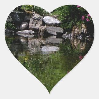 The Garden Pond Heart Sticker