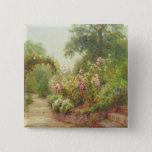 The Garden Steps 2 Inch Square Button