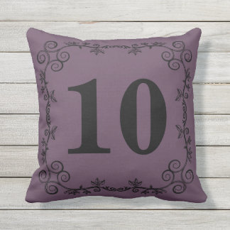 The Garden Vine Collection: Custom House Number Outdoor Pillow