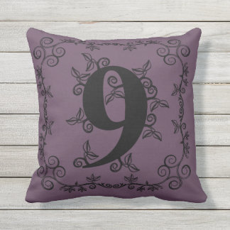 The Garden Vine Collection: Number 9 Outdoor Pillow