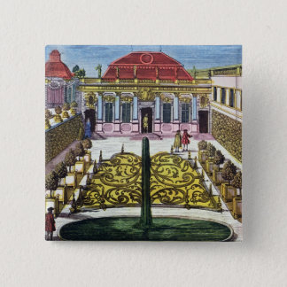 The Gardens of the Mirabelle Park, Salzburg, Austr 2 Inch Square Button