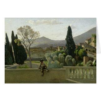 The Gardens of the Villa d'Este, Tivoli, 1843 Card