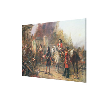 The Garrison of the Village Had At Last Surrendere Canvas Print