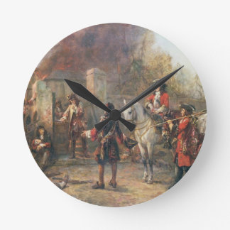 The Garrison of the Village Had At Last Surrendere Wall Clocks