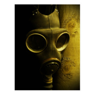 The gas mask postcard