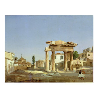 The Gate of Agora in Athens, 1843 Postcard