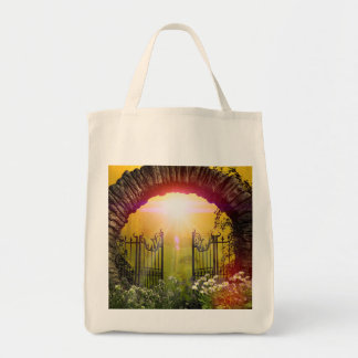 The gate to the land of dreams canvas bags
