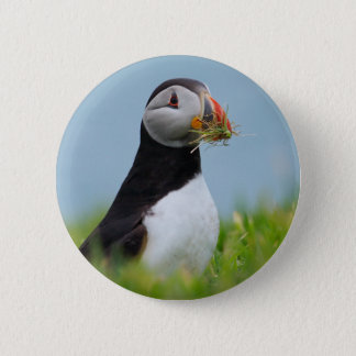 The Gatherer Puffin 2 Inch Round Button