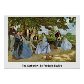 The Gathering, By Frederic Bazille Poster
