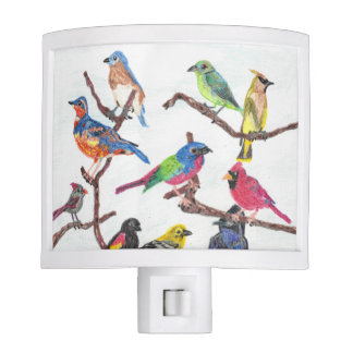 The Gathering Colorful Songbirds Nightlight Nite Lights