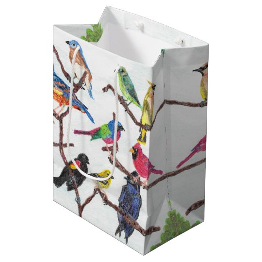 The Gathering Colourful Songbirds Medium Gift Bag