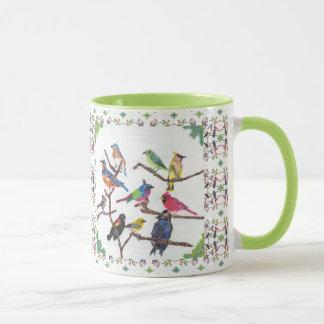 The Gathering Colourful Songbirds Patterned Mug