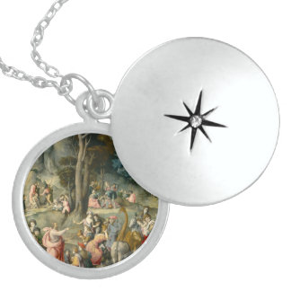 The Gathering of Manna - Francesco Bacchiacca Locket Necklace
