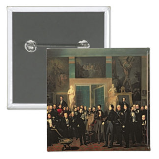 The Gathering of the Poets, 1846 2 Inch Square Button