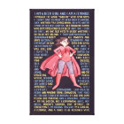 The Geek Girl's Litany for Feminism Canvas Print