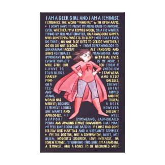 The Geek Girl's Litany for Feminism Canvas Prints