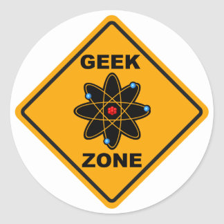 The Geek Zone Sign Classic Round Sticker
