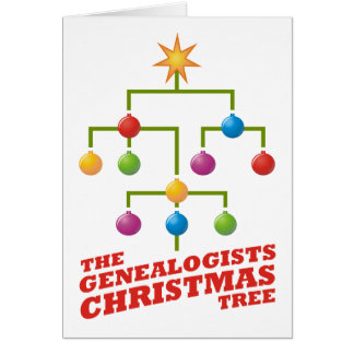 The Genealogists Christmas Tree Card
