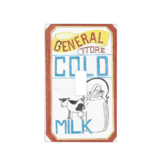 The General Store  Cold Milk  Light Switch Cover