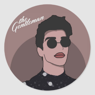 The Gentleman - Space Classic Round Sticker