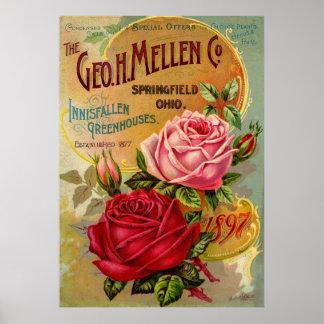The Geo. H. Mellen Co. Greenhouse Advertisement Poster