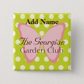 The Georgian Garden Club 2 Inch Square Button