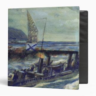 The German u-boat U 56 sunk by Grozovoi Vinyl Binder