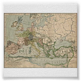 The Germanic Kingdoms and East Roman Empire in 486 Poster