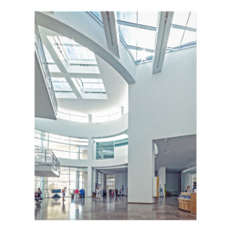 The Getty Center Entrance Hall Interior Customized Letterhead