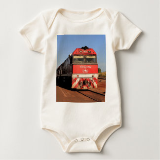 The Ghan train locomotive, Darwin Baby Bodysuit