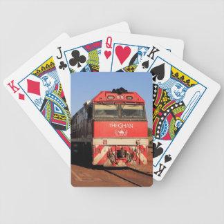 The Ghan train locomotive, Darwin Bicycle Playing Cards