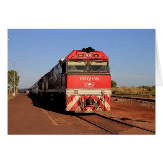 The Ghan train locomotive, Darwin Card