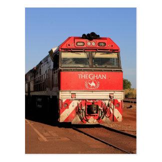 The Ghan train locomotive, Darwin Postcard