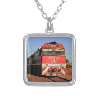 The Ghan train locomotive, Darwin Silver Plated Necklace
