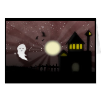 The Ghost and the Haunted House Card