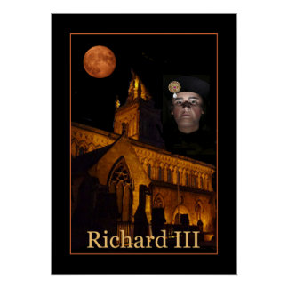 The ghost of Richard III over Leicester Cathedral Poster