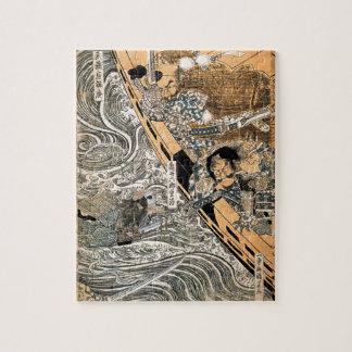The ghost of Taira Tomomori by Utagawa Kuniyoshi Jigsaw Puzzle
