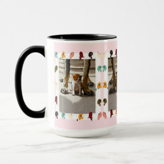 The giant and the kitten mug